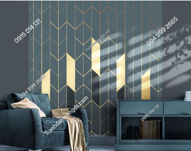 Tranh dán tường hình học hiện đại phòng khách 25097465