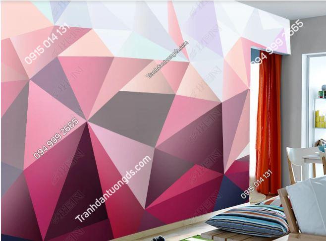 Tranh dán tường hình học tam giác 15524185