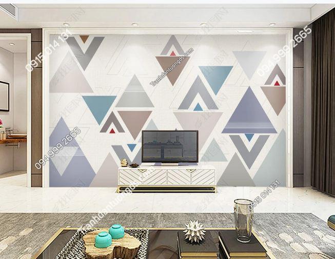 Tranh dán tường hình học tam giác 17284862