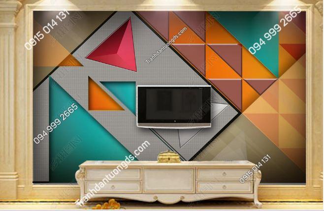 Tranh dán tường hình học tam giác 17815427
