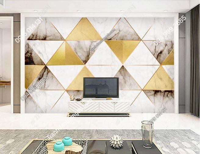 Tranh dán tường hình học tam giác 18999828