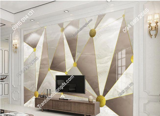 Tranh dán tường hình học tam giác 19038435