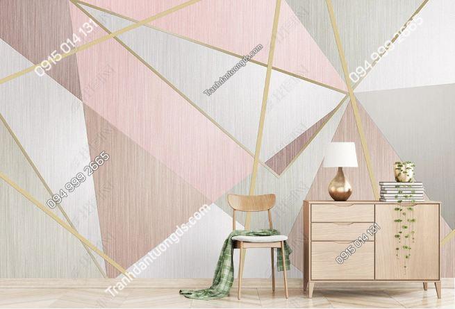 Tranh dán tường hình học tam giác 19073787
