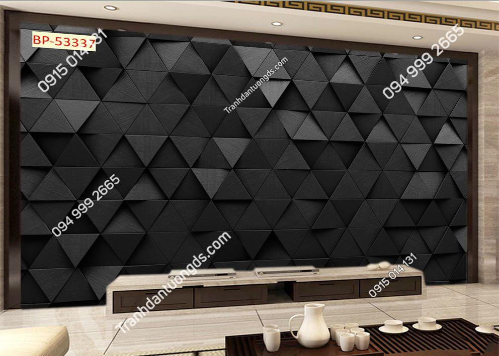 Tranh dán tường hình học tam giác đen 53337