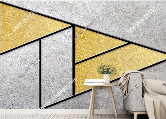 Tranh dán tường hình học tam giác xi măng 17797266