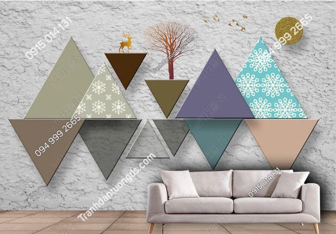 Tranh dán tường hình học tam giác xi măng 23183622