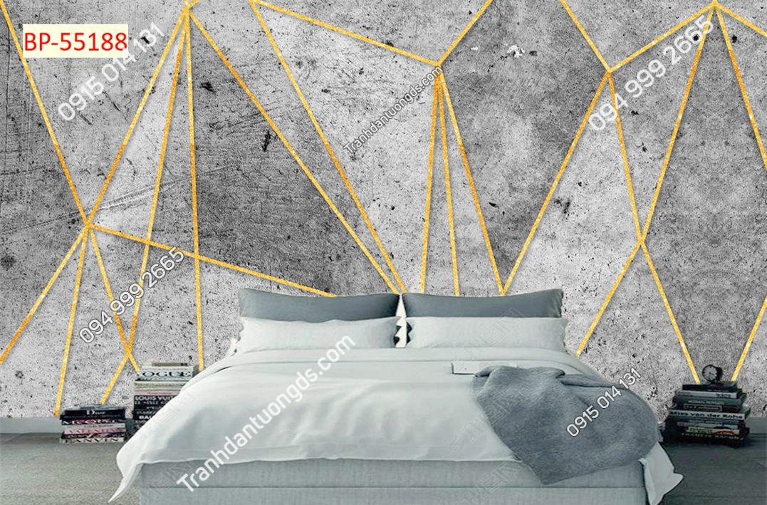 Tranh dán tường hình học xi măng 55188