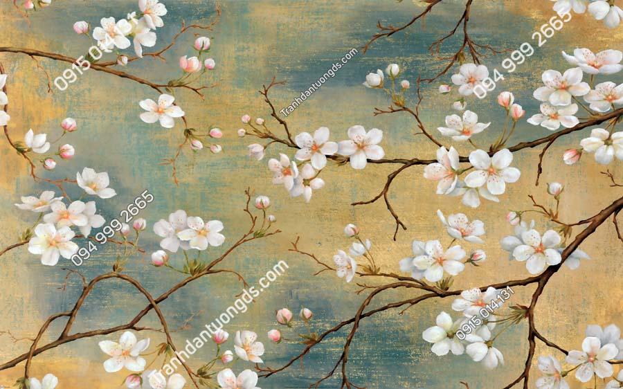 Tranh dán tường hoa đào rừng HHD222