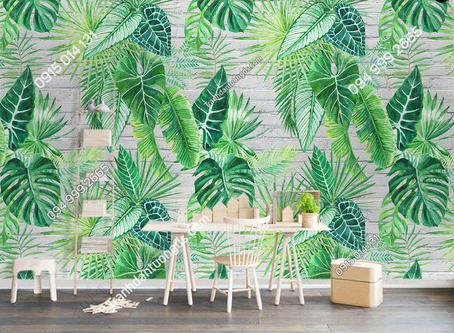Tranh dán tường lá cây nhiệt đới DS_16504444