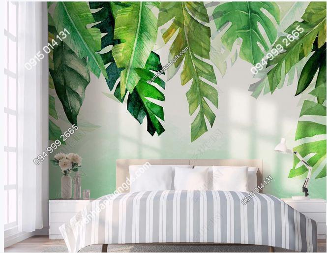 Tranh dán tường lá cây nhiệt đới DS_18432330