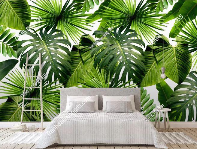 Tranh dán tường lá cây tropical DS_19230690