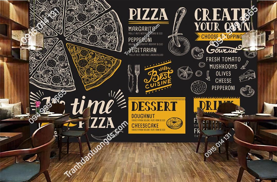 Tranh dán tường quán ăn nhanh 50933