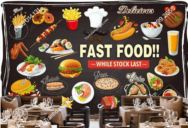 Tranh dán tường quán ăn nhanh DS_15598393