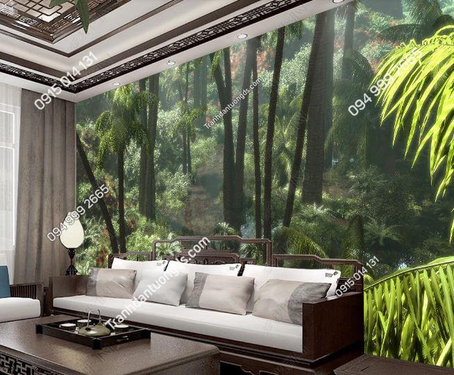 Tranh dán tường rừng cây nhiệt đới DS_16961112