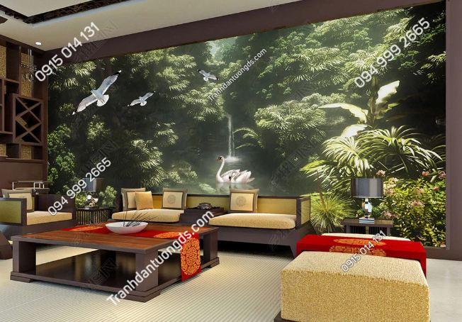 Tranh dán tường rừng cây nhiệt đới DS_16961152