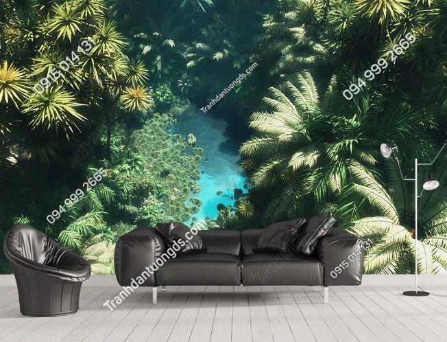 Tranh dán tường rừng cây nhiệt đới DS_16964556