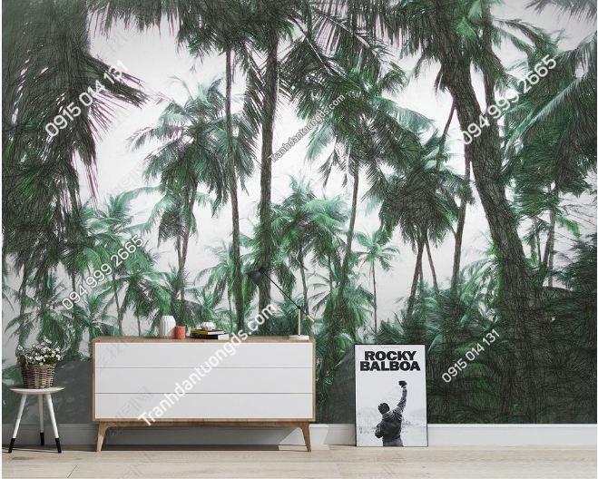 Tranh dán tường rừng cây nhiệt đới DS_18798720
