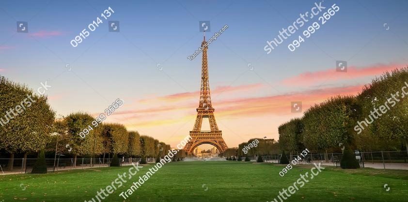 Tranh dán tường tháp Eiffel chiều ST_566715592