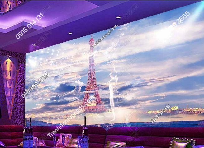Tranh dán tường tháp Eiffel dán quán karaoke DS_18473516