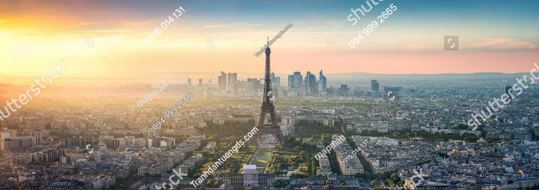 Tranh dán tường tháp Eiffel khổ dài ST_1298528866
