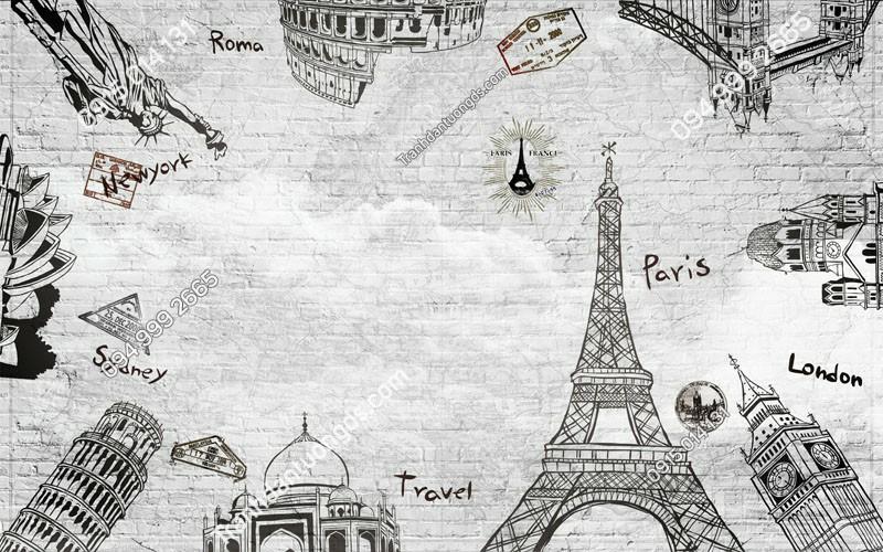 Tranh-dan-tuong-thap-Eiffel-phong-cach-trang-den-3DHD-168