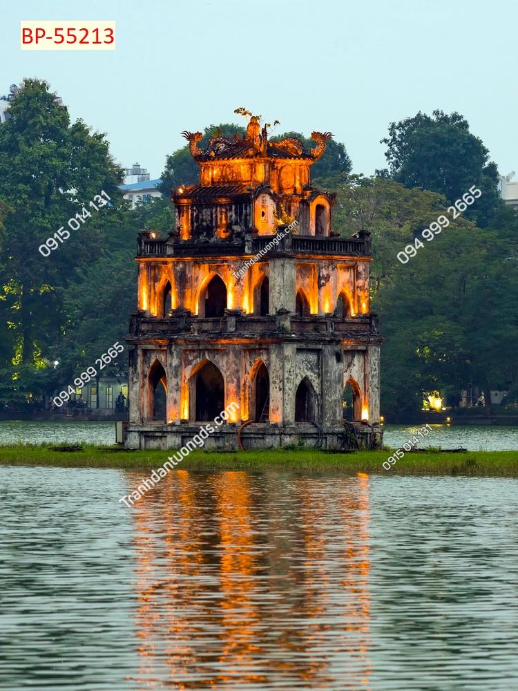 Tranh dán tường tháp Rùa Hà Nội 55213