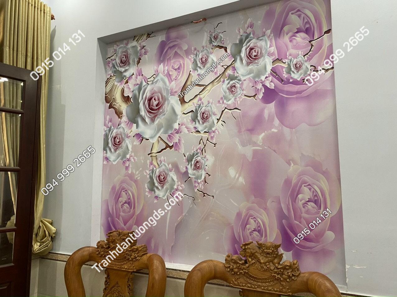 Tranh hoa giả ngọc phòng khách