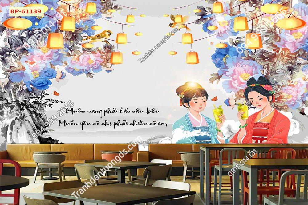 Tranh quán cafe đẹp