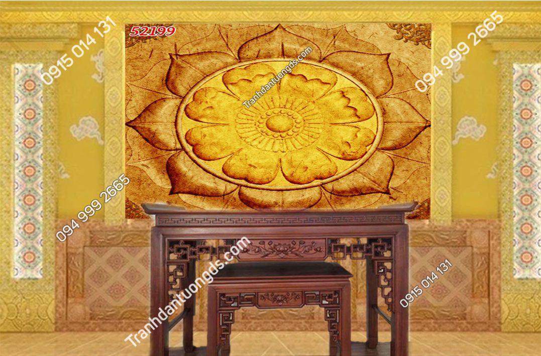 Tranh trúc chỉ Mandala phòng thờ 52199