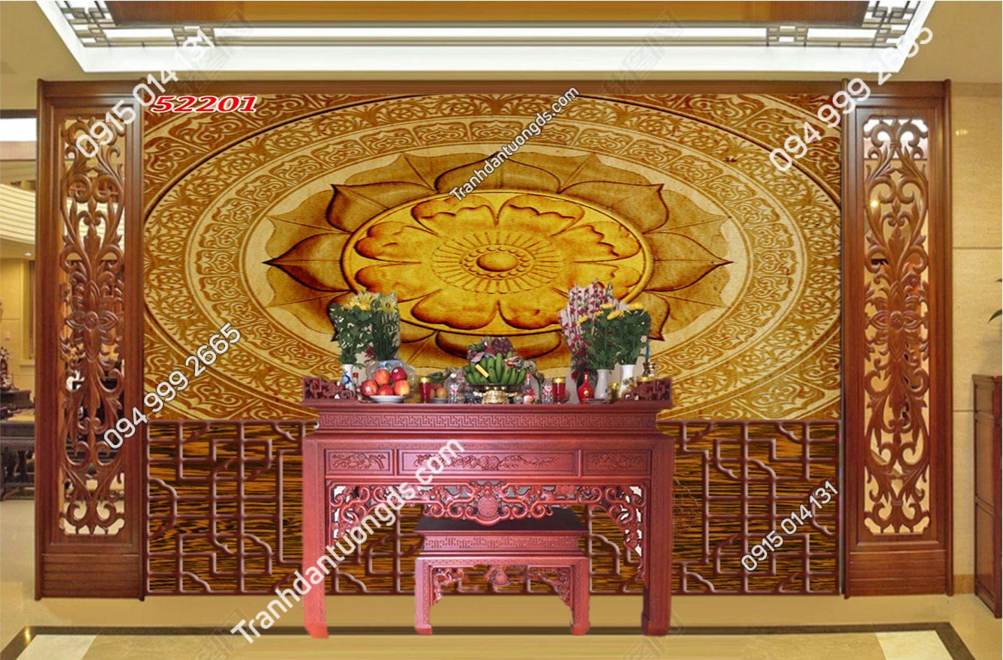 Tranh trúc chỉ Mandala phòng thờ 52201