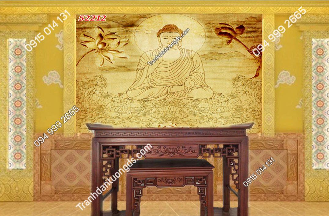 Tranh trúc chỉ bàn thờ gia tiên 52212