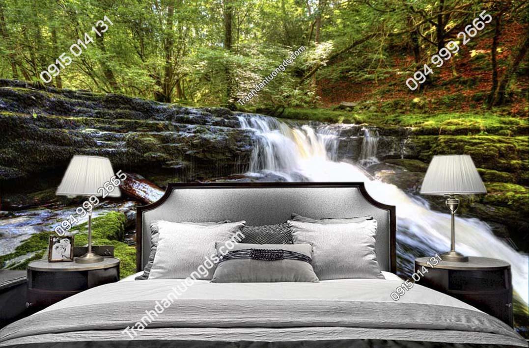 Tranh tường suối nước đẹp dán phòng ngủ ST019