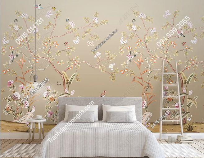 Tranh uyên ương dán tường phòng ngủ DS_13876751
