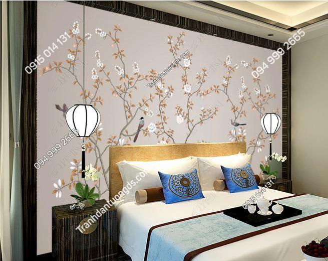Tranh uyên ương dán tường phòng ngủ DS_15869028