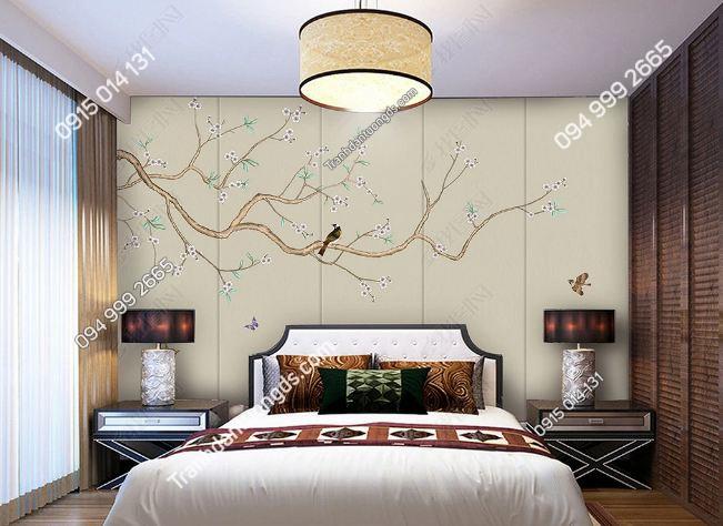 Tranh uyên ương dán tường phòng ngủ DS_16751124