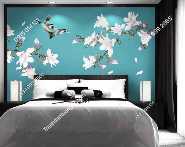 Tranh uyên ương dán tường phòng ngủ DS_17076688