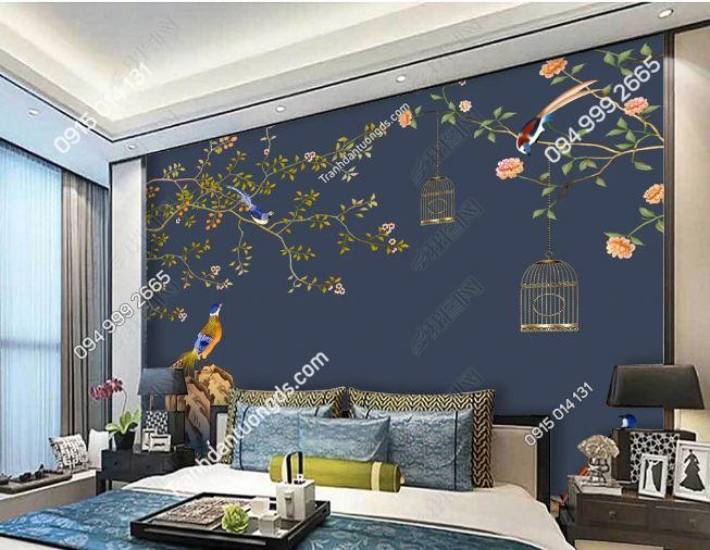 Tranh uyên ương dán tường phòng ngủ DS_17267670