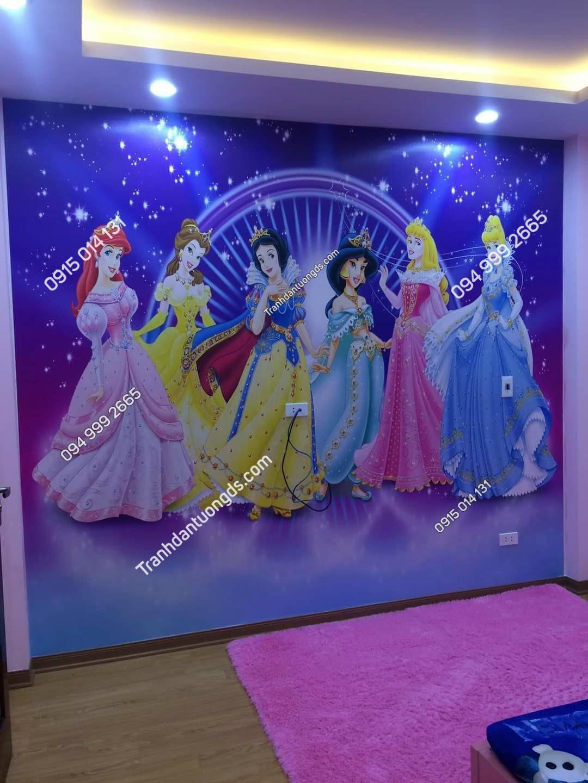 tranh công chúa phòng bé gái