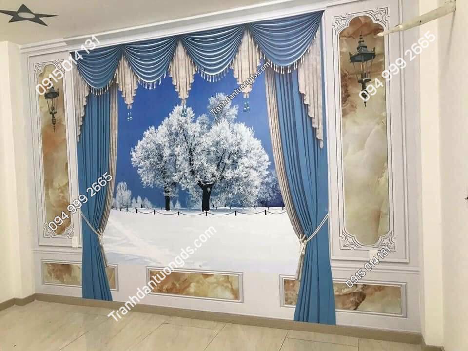 Tranh giả rèm cho phòng ngủ đẹp nhất
