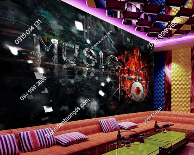 Tranh MUSIC 3D cho quán bar karaoke DS_18870148