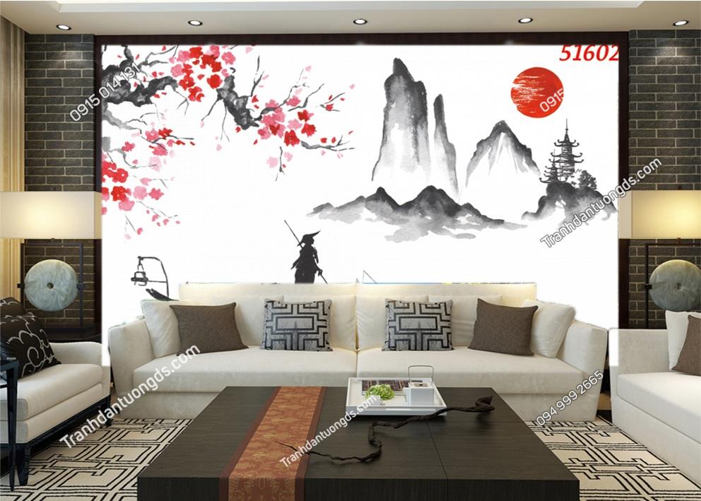 Tranh Nhật Bản phong cách thuy mặc 51602