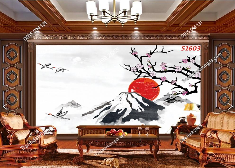 Tranh Nhật Bản phong cách thuy mặc 51603