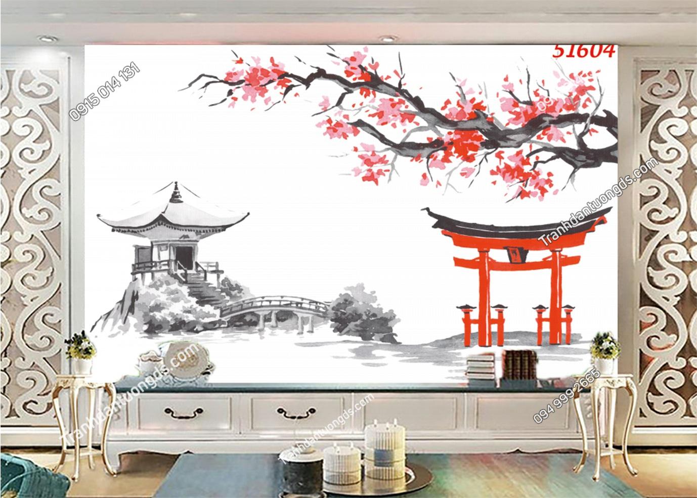 Tranh Nhật Bản phong cách thuy mặc 51604