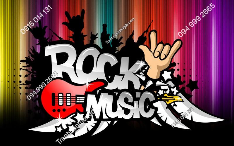 Tranh ROCK MUSIC cho quán bar karaoke - (301)