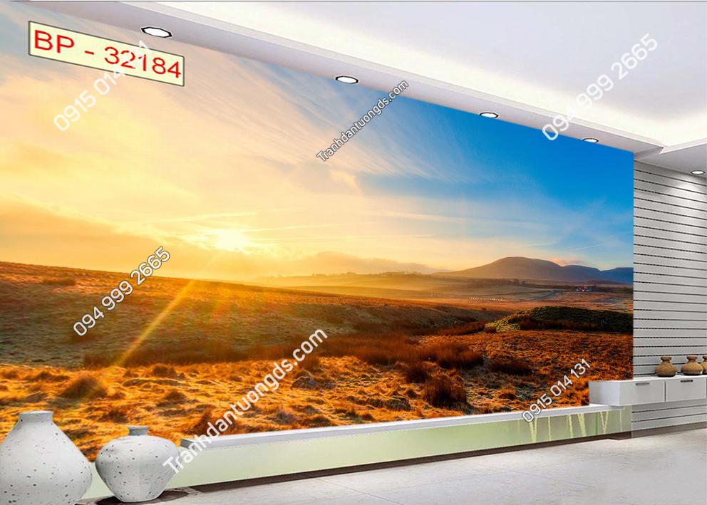 Tranh ánh mặt trời chói chang trên đình đồi 32184