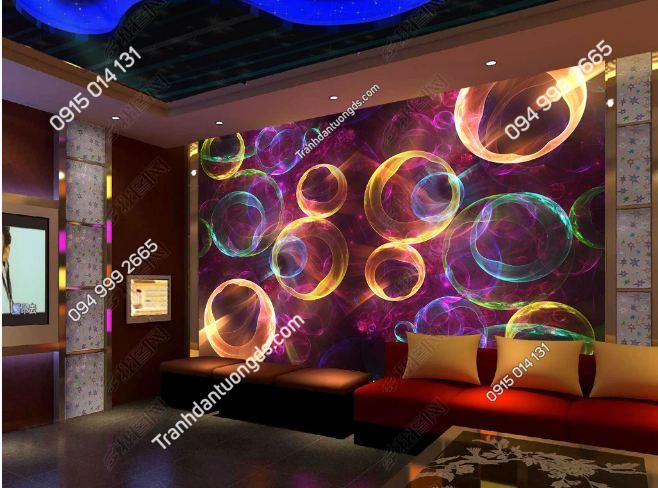Tranh bong bóng 3D cho quán bar karaoke DS_17632939