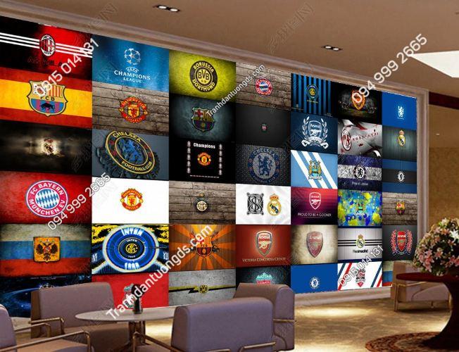 Tranh cờ câu lạc bộ bóng đá cho quán bar karaoke DS_15269776