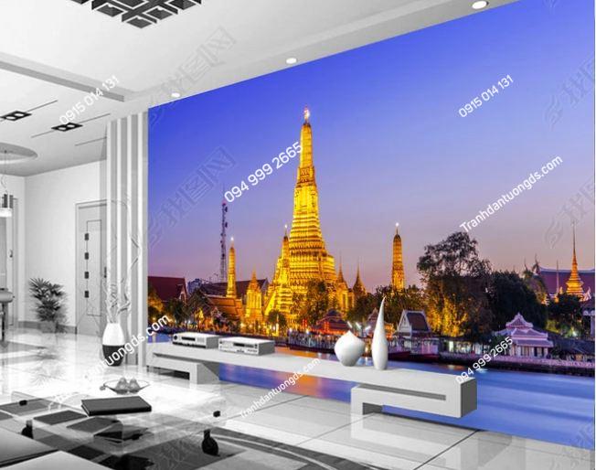 Tranh dán tường chùa vàng Thái Lan DS_14024418