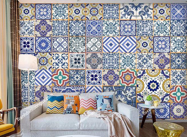 Tranh dán tường gạch men phong cách Thái Lan DS_15263347