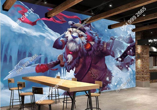 Tranh dán tường gấu cho phòng game cafe DS_17251985